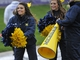 Nov 16, 2013; Evanston, IL, USA;  Michigan Wolverines cheerleaders dance on the sidelines during the game against the Northwestern Wildcats in the first half at Ryan Field. Mandatory Credit: David Banks-USA TODAY Sports