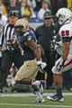 Nov 16, 2013; Annapolis, MD, USA; Navy Midshipmen slotback Darius Staten (20) runs for a gain against the South Alabama Jaguars at Navy Marine Corps Memorial Stadium. Mandatory Credit: Mitch Stringer-USA TODAY Sports