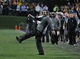 Nov 16, 2013; Evanston, IL, USA;  Northwestern Wildcats head coach Pat Fitzgerald reacts in overtime against the Michigan Wolverines at Ryan Field. The Michigan Wolverines defeated the Northwestern Wildcats 27-19 in triple overtime. Mandatory Credit: David Banks-USA TODAY Sports