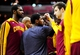 Nov 16, 2013; Washington, DC, USA; Cleveland Cavaliers guard Kyrie Irving (center) huddles with teammates prior to the game against the Washington Wizards at Verizon Center. Mandatory Credit: Evan Habeeb-USA TODAY Sports