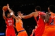 Nov 16, 2013; New York, NY, USA;  Atlanta Hawks small forward Cartier Martin (20) shoots over New York Knicks power forward Kenyon Martin (3) during the first quarter at Madison Square Garden. Mandatory Credit: Anthony Gruppuso-USA TODAY Sports