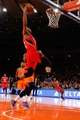 Nov 16, 2013; New York, NY, USA;  Atlanta Hawks power forward Mike Scott (32) dunks the ball during the second quarter against the New York Knicks at Madison Square Garden. Mandatory Credit: Anthony Gruppuso-USA TODAY Sports