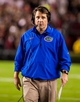 Nov 16, 2013; Columbia, SC, USA; Florida Gators head coach Will Muschamp directs his team against the South Carolina Gamecocks in the second quarter at Williams-Brice Stadium. Mandatory Credit: Jeff Blake-USA TODAY Sports