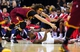 Nov 16, 2013; Washington, DC, USA; Washington Wizards forward Martell Webster (9) fights for a loose ball with Cleveland Cavaliers center Anderson Varejao (17) at Verizon Center. Mandatory Credit: Evan Habeeb-USA TODAY Sports