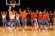 Nov 16, 2013; New York, NY, USA;  New York Knicks City Kids perform during the game against the Atlanta Hawks at Madison Square Garden. Atlanta Hawks won 110-90.  Mandatory Credit: Anthony Gruppuso-USA TODAY Sports