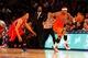 Nov 16, 2013; New York, NY, USA;  New York Knicks power forward Kenyon Martin (3) dribbles the ball during the fourth quarter against the Atlanta Hawks at Madison Square Garden. Atlanta Hawks won 110-90.  Mandatory Credit: Anthony Gruppuso-USA TODAY Sports