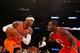 Nov 16, 2013; New York, NY, USA;  Atlanta Hawks power forward Paul Millsap (4) defends against New York Knicks small forward Carmelo Anthony (7) during the third quarter at Madison Square Garden. Atlanta Hawks won 110-90.  Mandatory Credit: Anthony Gruppuso-USA TODAY Sports