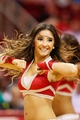 Nov 16, 2013; Houston, TX, USA; Houston Rockets cheerleader performs during the second half against the Denver Nuggets at Toyota Center. The Rockets won 122-111. Mandatory Credit: Soobum Im-USA TODAY Sports