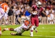Nov 16, 2013; Columbia, SC, USA; South Carolina Gamecocks wide receiver Bruce Ellington (23) is brought down by Florida Gators defensive back Brian Poole (24) in the second half at Williams-Brice Stadium. Mandatory Credit: Jeff Blake-USA TODAY Sports