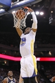 Nov 16, 2013; Oakland, CA, USA; Golden State Warriors forward Andre Iguodala (9) dunks the ball against the Utah Jazz in the second quarter at Oracle Arena. Mandatory Credit: Cary Edmondson-USA TODAY Sports