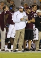 Nov 16, 2013; Starkville, MS, USA; Mississippi State Bulldogs head coach Dan Mullen during the game against the Alabama Crimson Tide at Davis Wade Stadium. Alabama Crimson Tide defeat the Mississippi State Bulldogs with a score of 20-7.  Mandatory Credit: Spruce Derden-USA TODAY Sports