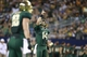 Nov 16, 2013; Arlington, TX, USA; Baylor Bears quarterback Bryce Petty (14) points to the sky after a touchdown was scored in the fourth quarter of the game against the Texas Tech Red Raiders at AT&T Stadium.  Baylor beat Texas Tech 63-34. Mandatory Credit: Tim Heitman-USA TODAY Sports