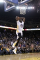 Nov 16, 2013; Oakland, CA, USA; Golden State Warriors forward Draymond Green (23) prepares to dunk the ball against the Utah Jazz in the second quarter at Oracle Arena. The Warriors defeated the Jazz 102-88. Mandatory Credit: Cary Edmondson-USA TODAY Sports