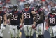 Nov 17, 2013; Houston, TX, USA; Houston Texans defensive end J.J. Watt (99) and the defensive line reacts after a play during the fourth quarter against the Oakland Raiders at Reliant Stadium. The Raiders defeated the Texans 28-23. Mandatory Credit: Troy Taormina-USA TODAY Sports