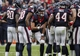 Nov 17, 2013; Houston, TX, USA; Houston Texans quarterback Matt Schaub (8) calls a play in the huddle during the third quarter against the Oakland Raiders at Reliant Stadium. The Raiders defeated the Texans 28-23. Mandatory Credit: Troy Taormina-USA TODAY Sports