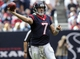 Nov 17, 2013; Houston, TX, USA; Houston Texans quarterback Case Keenum (7) attempts a pass during the third quarter against the Oakland Raiders at Reliant Stadium. The Raiders defeated the Texans 28-23. Mandatory Credit: Troy Taormina-USA TODAY Sports