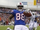 Nov 17, 2013; Orchard Park, NY, USA; Buffalo Bills wide receiver Marquise Goodwin (88) celebrates his second half touchdown against the New York Jets at Ralph Wilson Stadium. Bills beat the Jets 37-14.  Mandatory Credit: Timothy T. Ludwig-USA TODAY Sports