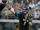 Nov 17, 2013; Jacksonville, FL, USA; Jacksonville Jaguars quarterback Chad Henne (7) throws a pass in the fourth quarter of their game against the Arizona Cardinals at EverBank Field. The Arizona Cardinals beat the Jacksonville Jaguars 27-14. Mandatory Credit: Phil Sears-USA TODAY Sports