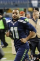 Nov 17, 2013; Seattle, WA, USA; Seattle Seahawks wide receiver Percy Harvin (11) jogs off the field after the game between the Seattle Seahawks and the Minnesota Vikings at CenturyLink Field. Seattle defeated Minnesota 41-20. Mandatory Credit: Steven Bisig-USA TODAY Sports