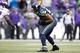 Nov 17, 2013; Seattle, WA, USA; Seattle Seahawks middle linebacker Bobby Wagner (54) catches an interception against the Minnesota Vikings during the fourth quarter at CenturyLink Field. Mandatory Credit: Joe Nicholson-USA TODAY Sports