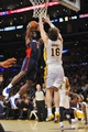 November 17, 2013; Los Angeles, CA, USA; Detroit Pistons shooting guard Rodney Stuckey (3) goes in for a basket against the defense of Los Angeles Lakers center Pau Gasol (16) during the first half at Staples Center. Mandatory Credit: Gary A. Vasquez-USA TODAY Sports