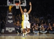 November 17, 2013; Los Angeles, CA, USA; Los Angeles Lakers small forward Nick Young (0) reacts after shooting guard Jodie Meeks (20) (not pictured) scores a three point basket against the Detroit Pistons during the second half at Staples Center. Mandatory Credit: Gary A. Vasquez-USA TODAY Sports