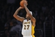 November 17, 2013; Los Angeles, CA, USA; Los Angeles Lakers center Jordan Hill (27) shoots a basket against the Detroit Pistons during the first half at Staples Center. Mandatory Credit: Gary A. Vasquez-USA TODAY Sports