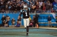 Nov 18, 2013; Charlotte, NC, USA; Carolina Panthers quarterback Cam Newton (1) celebrates after throwing a touchdown pass during the fourth quarter against the New England Patriots at Bank of America Stadium. The Panthers defeated the Patriots 24-20. Mandatory Credit: Jeremy Brevard-USA TODAY Sports