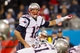 Nov 18, 2013; Charlotte, NC, USA; New England Patriots quarterback Tom Brady (12) changes the play during the third quarter against the Carolina Panthers at Bank of America Stadium. The Panthers defeated the Patriots 24-20. Mandatory Credit: Jeremy Brevard-USA TODAY Sports