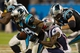 Nov 18, 2013; Charlotte, NC, USA; Carolina Panthers wide receiver Steve Smith (89) gest tackled by New England Patriots running back LeGarrette Blount (29) during the third quarter at Bank of America Stadium. The Panthers defeated the Patriots 24-20. Mandatory Credit: Jeremy Brevard-USA TODAY Sports