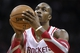 Nov 19, 2013; Houston, TX, USA; Houston Rockets power forward Dwight Howard (12) attempts a free throw during the second quarter against the Boston Celtics at Toyota Center. Mandatory Credit: Troy Taormina-USA TODAY Sports