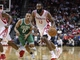 Nov 19, 2013; Houston, TX, USA; Houston Rockets shooting guard James Harden (13) drives the ball during the second quarter against the Boston Celtics at Toyota Center. Mandatory Credit: Troy Taormina-USA TODAY Sports