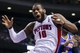 Nov 19, 2013; Auburn Hills, MI, USA; Detroit Pistons power forward Greg Monroe (10) reacts to being fouled in the fourth quarter against the New York Knicks at The Palace of Auburn Hills. Detroit 92-86. Mandatory Credit: Rick Osentoski-USA TODAY Sports