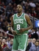 Nov 19, 2013; Houston, TX, USA; Boston Celtics shooting guard Jeff Green (8) reacts after a play during the third quarter against the Houston Rockets at Toyota Center. Mandatory Credit: Troy Taormina-USA TODAY Sports