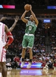Nov 19, 2013; Houston, TX, USA; Boston Celtics point guard Avery Bradley (0) shoots during the third quarter against the Houston Rockets at Toyota Center. Mandatory Credit: Troy Taormina-USA TODAY Sports