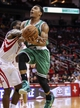 Nov 19, 2013; Houston, TX, USA; Boston Celtics point guard Phil Pressey (26) drives the ball as Houston Rockets point guard Patrick Beverley (2) attempts to steal the ball during the fourth quarter at Toyota Center. The Rockets defeated the Celtics 109-85. Mandatory Credit: Troy Taormina-USA TODAY Sports