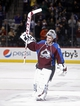 Nov 19, 2013; Denver, CO, USA; Colorado Avalanche goalie Semyon Varlamov (1) after the third period against the Chicago Blackhawks at Pepsi Center. The Avalanche won 5-1. Mandatory Credit: Chris Humphreys-USA TODAY Sports
