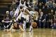 Nov 19, 2013; Sacramento, CA, USA; Phoenix Suns shooting guard Goran Dragic (1) is called for a loose ball foul against Sacramento Kings point guard Isaiah Thomas (22) during the fourth quarter at Sleep Train Arena. The Sacramento Kings defeated the Phoenix Suns 107-104. Mandatory Credit: Kelley L Cox-USA TODAY Sports