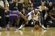 Nov 19, 2013; Sacramento, CA, USA; Sacramento Kings point guard Isaiah Thomas (22) steals the ball from Phoenix Suns point guard Ish Smith (3) during the fourth quarter at Sleep Train Arena. The Sacramento Kings defeated the Phoenix Suns 107-104. Mandatory Credit: Kelley L Cox-USA TODAY Sports