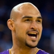 Oct 30, 2013; Oakland, CA, USA; Los Angeles Lakers center Robert Sacre (50) reacts after the call during the fourth quarter against the Golden State Warriors at Oracle Arena. The Golden State Warriors defeated the Los Angeles Lakers 125-94. Mandatory Credit: Kelley L Cox-USA TODAY Sports