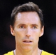 Oct 6, 2013; Los Angeles, CA, USA; Los Angeles Lakers guard Steve Nash (10) during the first half against the Denver Nuggets at Staples Center. Mandatory Credit: Christopher Hanewinckel-USA TODAY Sports