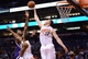 Nov 20, 2013; Phoenix, AZ, USA; Phoenix Suns forward Miles Plumlee (22) blocks the shot of Sacramento Kings forward Jason Thompson (34) in the first half at US Airways Center. Mandatory Credit: Jennifer Stewart-USA TODAY Sports