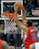 Nov 20, 2013; Minneapolis, MN, USA; Los Angeles Clippers center Ryan Hollins (15) dunks during the third quarter against the Minnesota Timberwolves at Target Center. The Clippers defeated the Timberwolves 102-98. Mandatory Credit: Brace Hemmelgarn-USA TODAY Sports