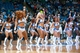 Nov 1, 2013; Minneapolis, MN, USA; Minnesota Timberwolves dancers entertain fans during the first quarter against the Oklahoma City Thunder at Target Center. Timberwolves won 100-81. Mandatory Credit: Greg Smith-USA TODAY Sports