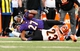 Nov 10, 2013; Baltimore, MD, USA; Baltimore Ravens running back Ray Rice (27) gets tackled by Cincinnati Bengals cornerback Terence Newman (23) at M&T Bank Stadium. Mandatory Credit: Evan Habeeb-USA TODAY Sports