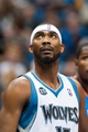 Nov 1, 2013; Minneapolis, MN, USA; Minnesota Timberwolves small forward Corey Brewer (13) during the second quarter against the Oklahoma City Thunder at Target Center. Timberwolves won 100-81. Mandatory Credit: Greg Smith-USA TODAY Sports