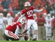 Nov 16, 2013; Madison, WI, USA; Wisconsin Badgers kicker Jack Russell (97) kicks a field goal during the game against the Indiana Hoosiers at Camp Randall Stadium. Wisconsin won 51-3.  Mandatory Credit: Jeff Hanisch-USA TODAY Sports