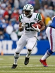 Nov 17, 2013; Orchard Park, NY, USA; New York Jets running back Bilal Powell (29) during the second half against the Buffalo Bills at Ralph Wilson Stadium. Bills beat the Jets 37-14. Mandatory Credit: Kevin Hoffman-USA TODAY Sports