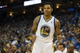 Oct 30, 2013; Oakland, CA, USA; Golden State Warriors shooting guard Kent Bazemore (20) against the Los Angeles Lakers during the fourth quarter at Oracle Arena. The Golden State Warriors defeated the Los Angeles Lakers 125-94. Mandatory Credit: Kelley L Cox-USA TODAY Sports