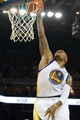 Oct 30, 2013; Oakland, CA, USA; Golden State Warriors power forward Marreese Speights (5) dunks the ball against the Los Angeles Lakers during the fourth quarter at Oracle Arena. The Golden State Warriors defeated the Los Angeles Lakers 125-94. Mandatory Credit: Kelley L Cox-USA TODAY Sports